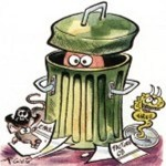 poubelle nid à microbes