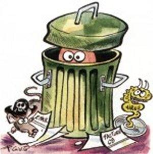 Desinfecter poubelle asticot